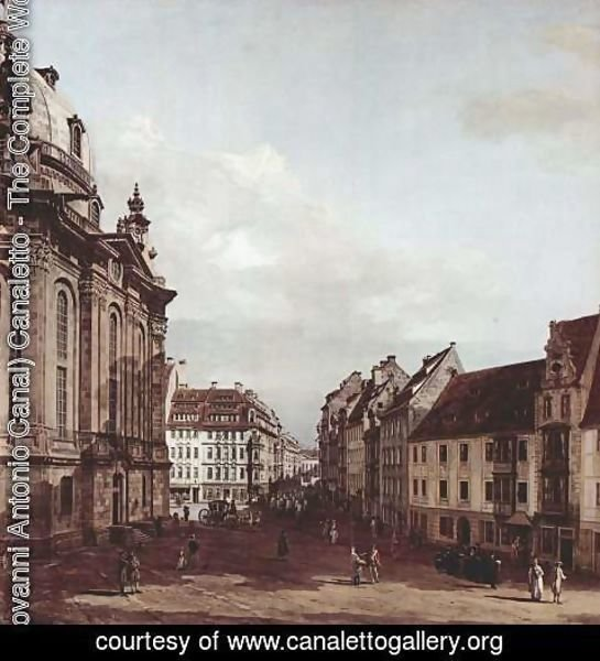 (Giovanni Antonio Canal) Canaletto - View of Dresden, the Frauenkirche