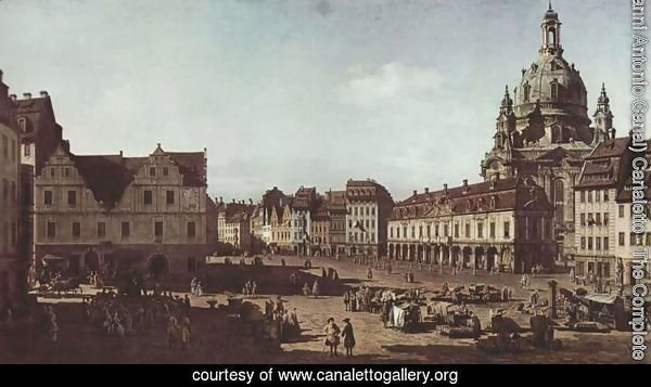 View of Dresden, the Neumarkt Moritz