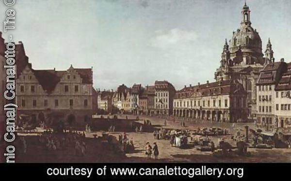 (Giovanni Antonio Canal) Canaletto - View of Dresden, the Neumarkt Moritz