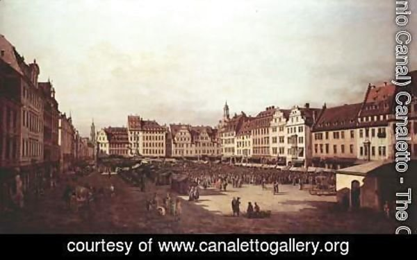 (Giovanni Antonio Canal) Canaletto - View of Dresden, The Old Market Square from the Seegasse