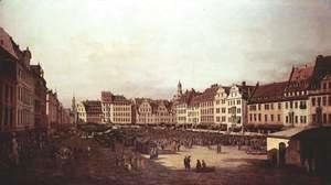 View of Dresden, The Old Market Square from the Seegasse
