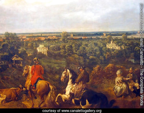 view on Lazienki in Warsaw