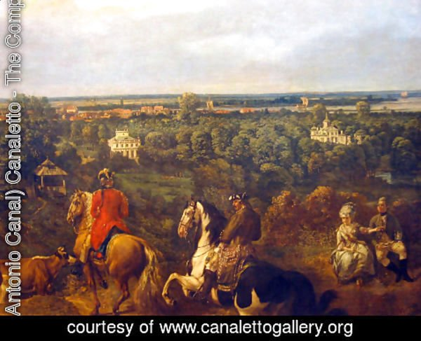 (Giovanni Antonio Canal) Canaletto - view on Lazienki in Warsaw