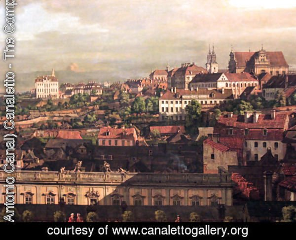 (Giovanni Antonio Canal) Canaletto - View on Warsaw from Royal Castle fragment