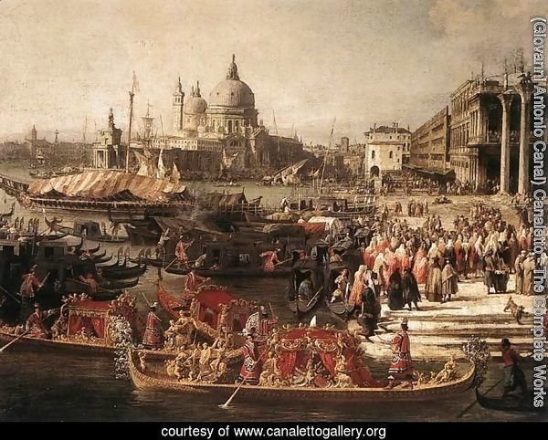 Arrival of the French Ambassador in Venice (detail 1)