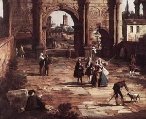 (Giovanni Antonio Canal) Canaletto - Rome, The Arch of Constantine (detail)