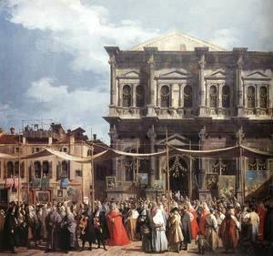 (Giovanni Antonio Canal) Canaletto - The Feast Day of St Roch (detail)