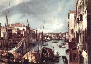 (Giovanni Antonio Canal) Canaletto - The Grand Canal with the Rialto Bridge in the Background (detail)