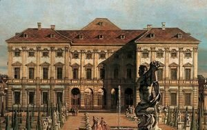 (Giovanni Antonio Canal) Canaletto - The Liechtenstein Garden Palace, garden side (detail)