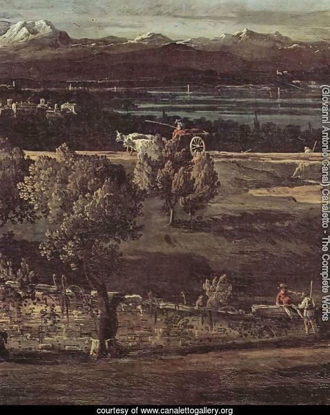 The village Gazzada viewed from southeast to the Villa Melzi d'Eril, detail (2)