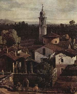 (Giovanni Antonio Canal) Canaletto - The village Gazzada, View from the south (Vedute of Gazzada), detail