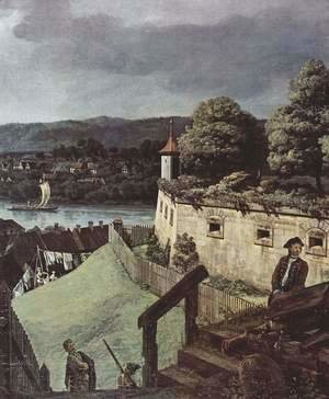 (Giovanni Antonio Canal) Canaletto - View from Pirna, from the sun-stone fortress of view, detail