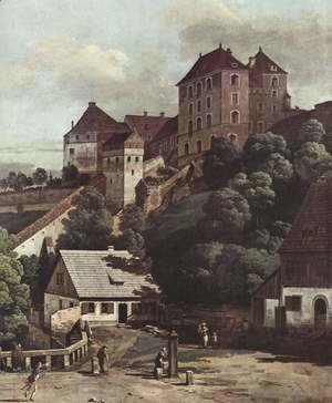 (Giovanni Antonio Canal) Canaletto - View from Pirna, Pirna from the south side of view, with fortifications and Upper (gate), and sun-stone fortress, de