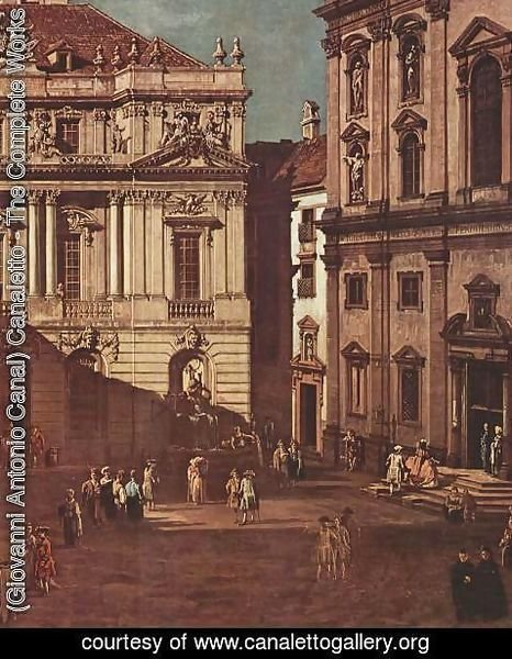 (Giovanni Antonio Canal) Canaletto - View from Vienna, the square in front of the University of South-East, detail