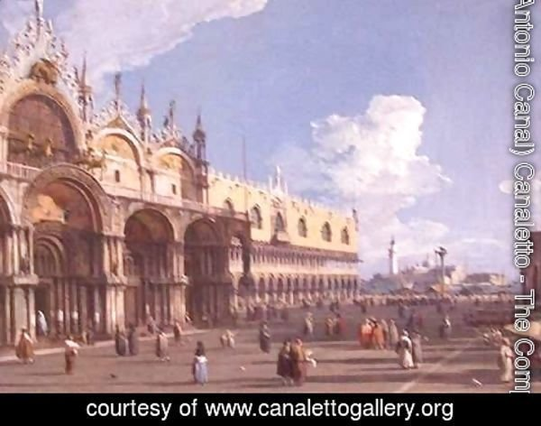 (Giovanni Antonio Canal) Canaletto - View of Venice with St Marks