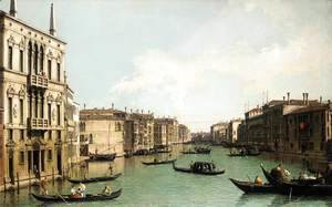 (Giovanni Antonio Canal) Canaletto - Venice The Grand Canal, Looking North-East from Palazzo Balbi to the Rialto Bri