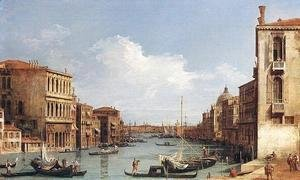 (Giovanni Antonio Canal) Canaletto - The Grand Canal from Campo San Vio towards the Bacino
