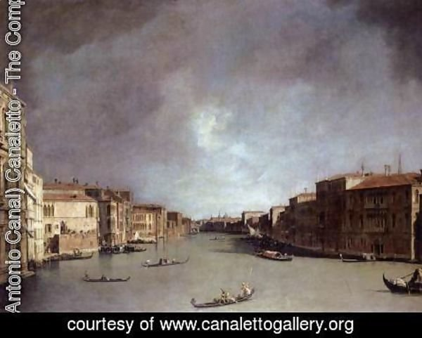 (Giovanni Antonio Canal) Canaletto - Grand Canal Looking from Palazzo Balbi
