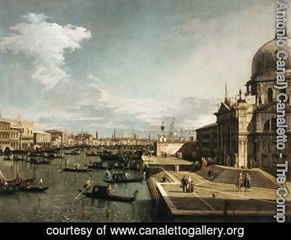 (Giovanni Antonio Canal) Canaletto - Entrance to the Grand Canal and the Church of La Salute