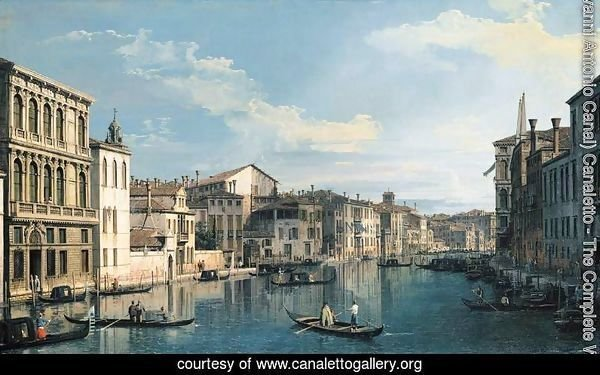 Venice The Grand Canal from Palazzo Flangini to the Church of San Marcuola 2