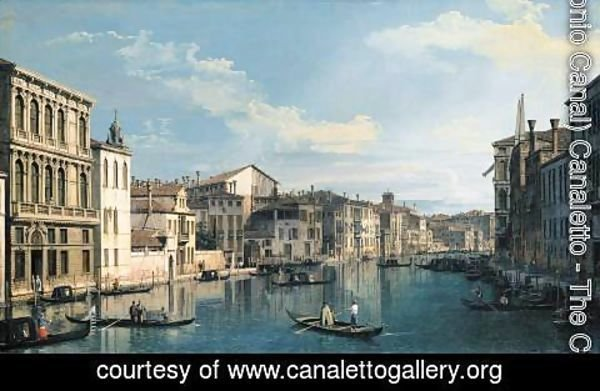 (Giovanni Antonio Canal) Canaletto - Venice The Grand Canal from Palazzo Flangini to the Church of San Marcuola 2