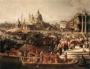 (Giovanni Antonio Canal) Canaletto - Arrival of the French Ambassador in Venice (detail)