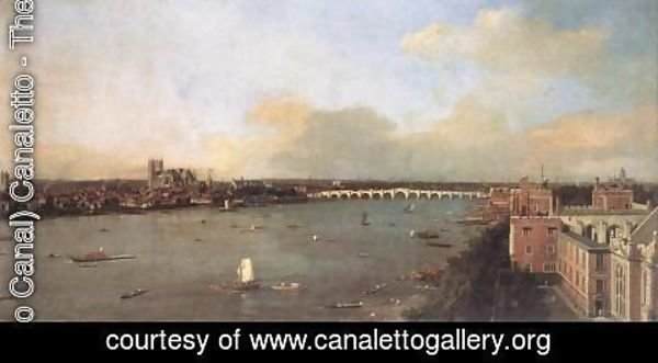 (Giovanni Antonio Canal) Canaletto - London, Seen from an Arch of Westminster Bridge 2