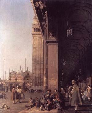(Giovanni Antonio Canal) Canaletto - Piazza San Marco Looking East from the South West Corner 2