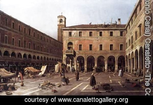 (Giovanni Antonio Canal) Canaletto - The Campo di Rialto 2