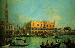 (Giovanni Antonio Canal) Canaletto - A View of the Ducal Palace in Venice