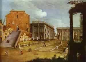 Capitol Square In Rome 1749