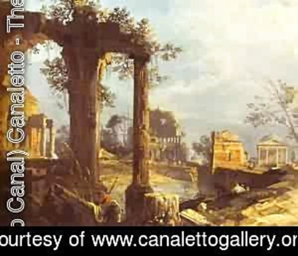 (Giovanni Antonio Canal) Canaletto - Capriccio View With Ruins 1740