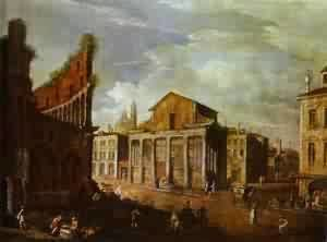 (Giovanni Antonio Canal) Canaletto - Church Of St Antony And St Phaustina In Rome 1749