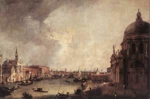 (Giovanni Antonio Canal) Canaletto - Entrance To The Grand Canal Looking East 1725