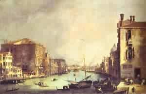 (Giovanni Antonio Canal) Canaletto - Grand Canal Looking East From Theampo San Vio 1725