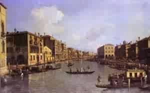 (Giovanni Antonio Canal) Canaletto - Grand Canal Looking South-East From Theampo Santo Sophia To The Rialto Bridge