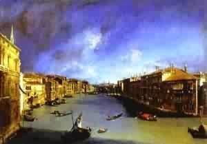 (Giovanni Antonio Canal) Canaletto - Grand Canal Viewed From Palazzo Balbi