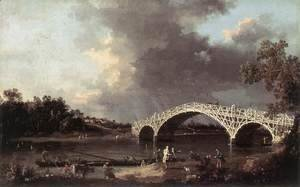(Giovanni Antonio Canal) Canaletto - Old Walton Bridge 1754