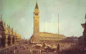 (Giovanni Antonio Canal) Canaletto - Piazza San Marco Looking South-West 1750s