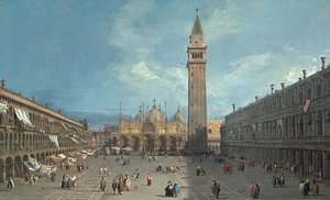 (Giovanni Antonio Canal) Canaletto - Piazza San Marco possibly late 1720s