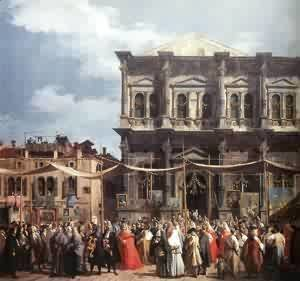(Giovanni Antonio Canal) Canaletto - The Feast Day Of St Roch (Detail) C 1735