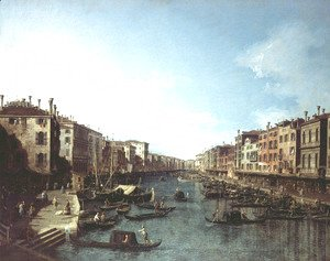 (Giovanni Antonio Canal) Canaletto - The Grand Canal 3