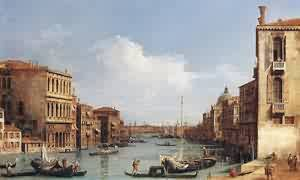 (Giovanni Antonio Canal) Canaletto - The Grand Canal From Campo S Vio Toward The Bacino 1729-34