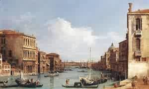 (Giovanni Antonio Canal) Canaletto - The Grand Canal Looking Down To The Rialto Bridge 1758-63