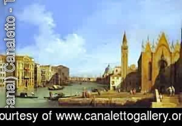 (Giovanni Antonio Canal) Canaletto - The Molo Looking East 1730