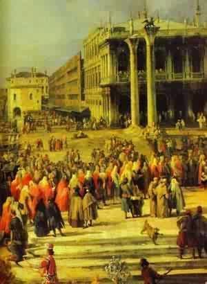 (Giovanni Antonio Canal) Canaletto - The Reception Of The French Ambassador In Venice Detail 1 1740s