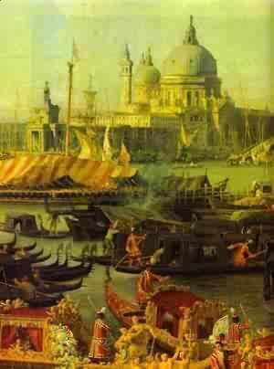 (Giovanni Antonio Canal) Canaletto - The Reception Of The French Ambassador In Venice Detail 1740