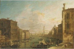 The Grand Canal, Venice, looking East from the Campo di S. Vio towards the Bacino