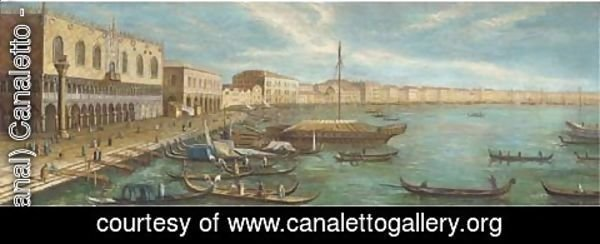 (Giovanni Antonio Canal) Canaletto - Vessels in front of the Doges palace, Venice