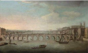 (Giovanni Antonio Canal) Canaletto - View of the Thames, with Westminster Bridge from the North